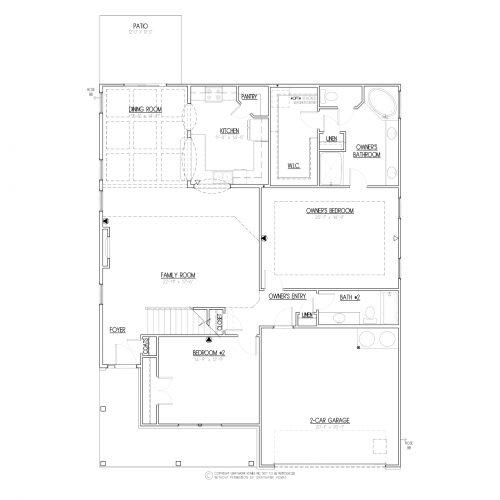 Bailey House Plan - 1st Floor