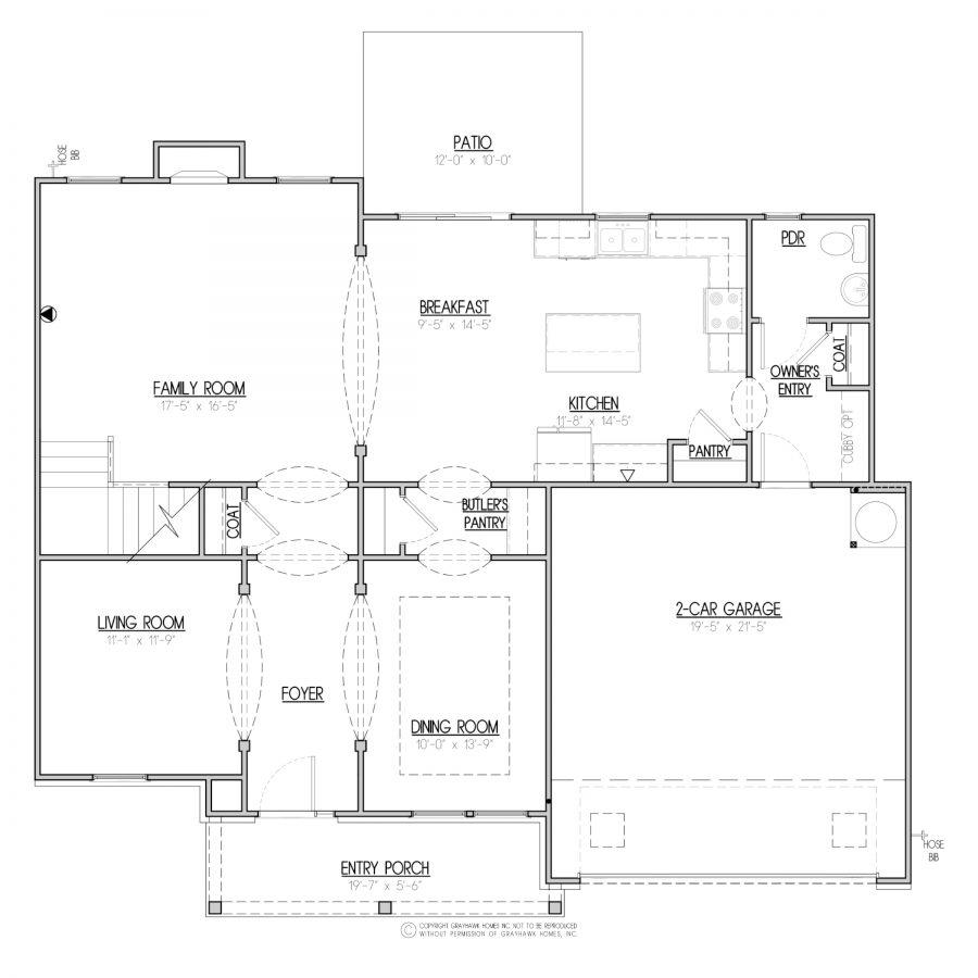 Bedford 2 Story House Plans In Ga Al Grayhawk Homes