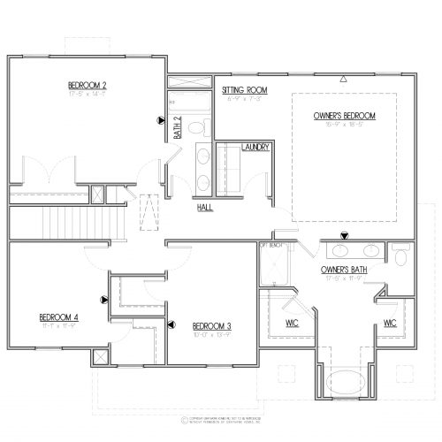 Bedford A&C 2 Story House Plans - 2nd Floor