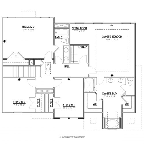 Bedford Euro 2 Story House Plans - 2nd Floor