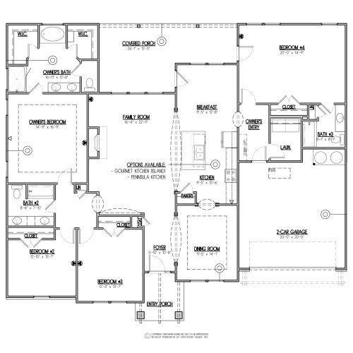 Poplar Craftsman Single Story House Plan