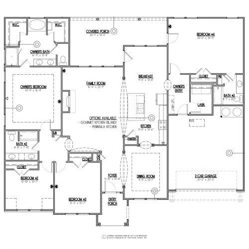 Poplar Euro Single Story House Plan