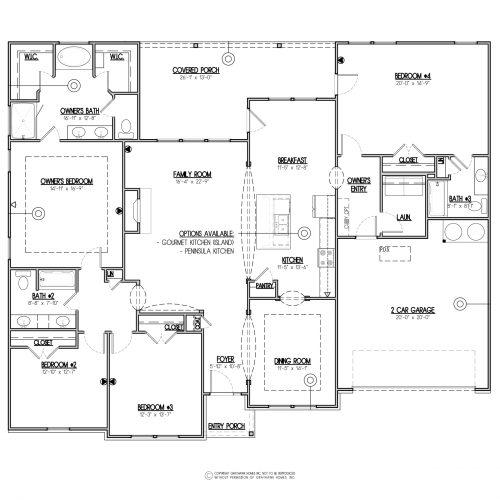 Poplar Traditional Single Story House Plan