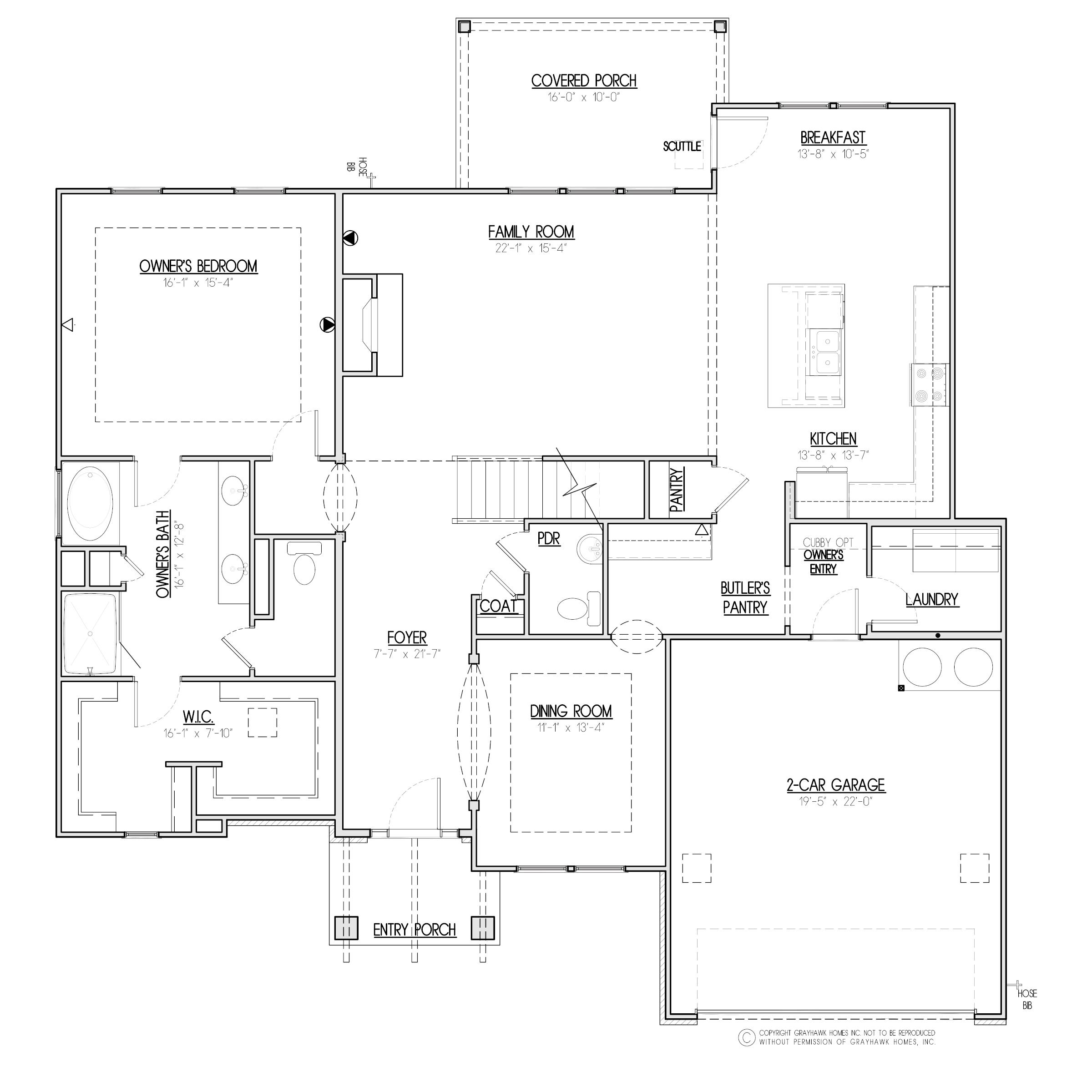 Aspen Craftsman 1st Floor