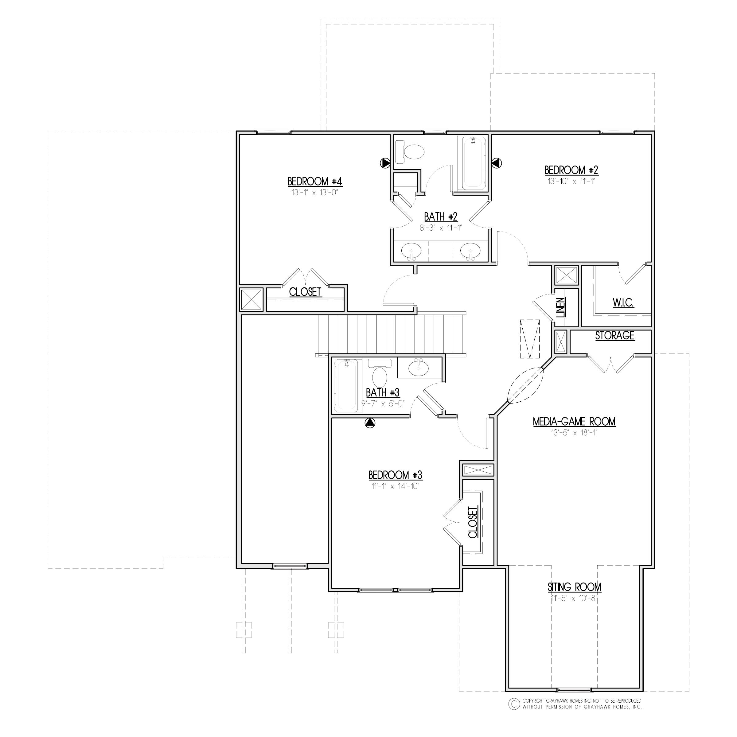 Aspen Craftsman 2nd Floor