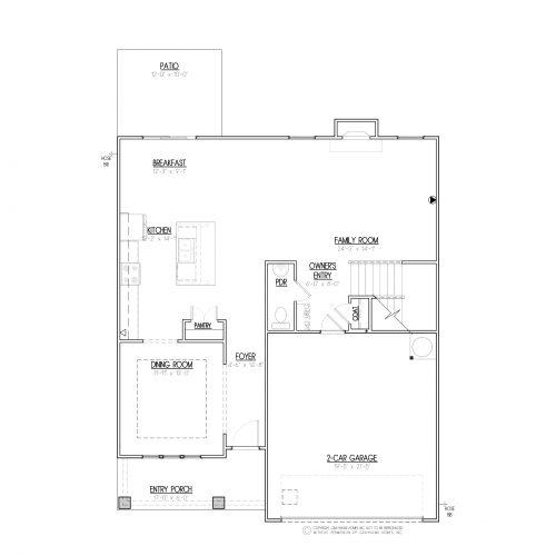 Longleaf Craftsman 2 Story House Plans - 1st Floor