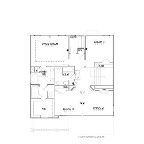 Longleaf Craftsman 2 Story House Plans - 2nd Floor