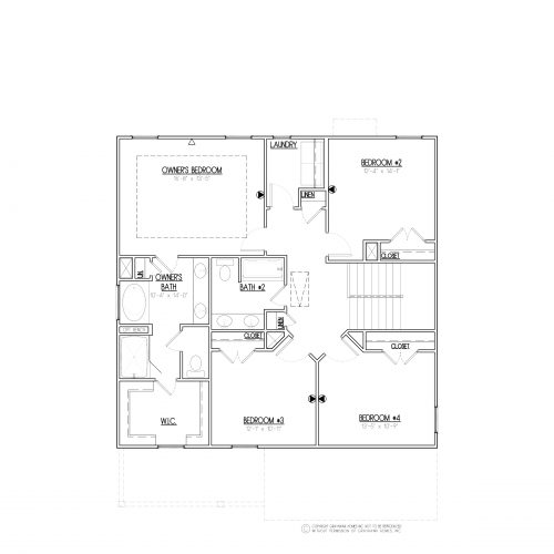 Longleaf Traditional 2 Story House Plans - 2nd Floor