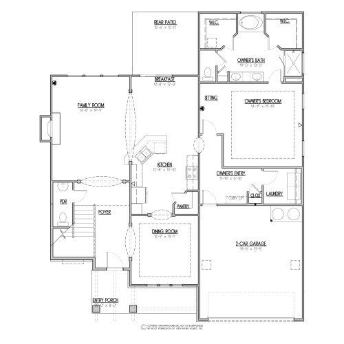 Chestnut Craftsman House Plan - 1st Floor