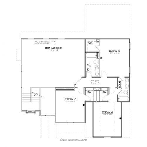 Chestnut Craftsman House Plan - 2nd Floor