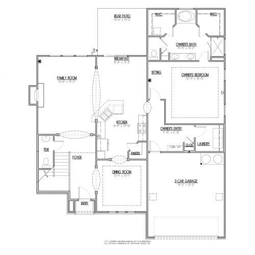 Chestnut Euro House Plan - 1st Floor