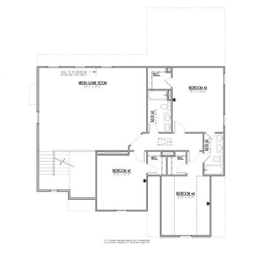 Chestnut Euro House Plan - 2nd Floor