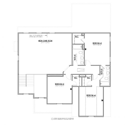 Chestnut Traditional House Plan - 2nd Floor
