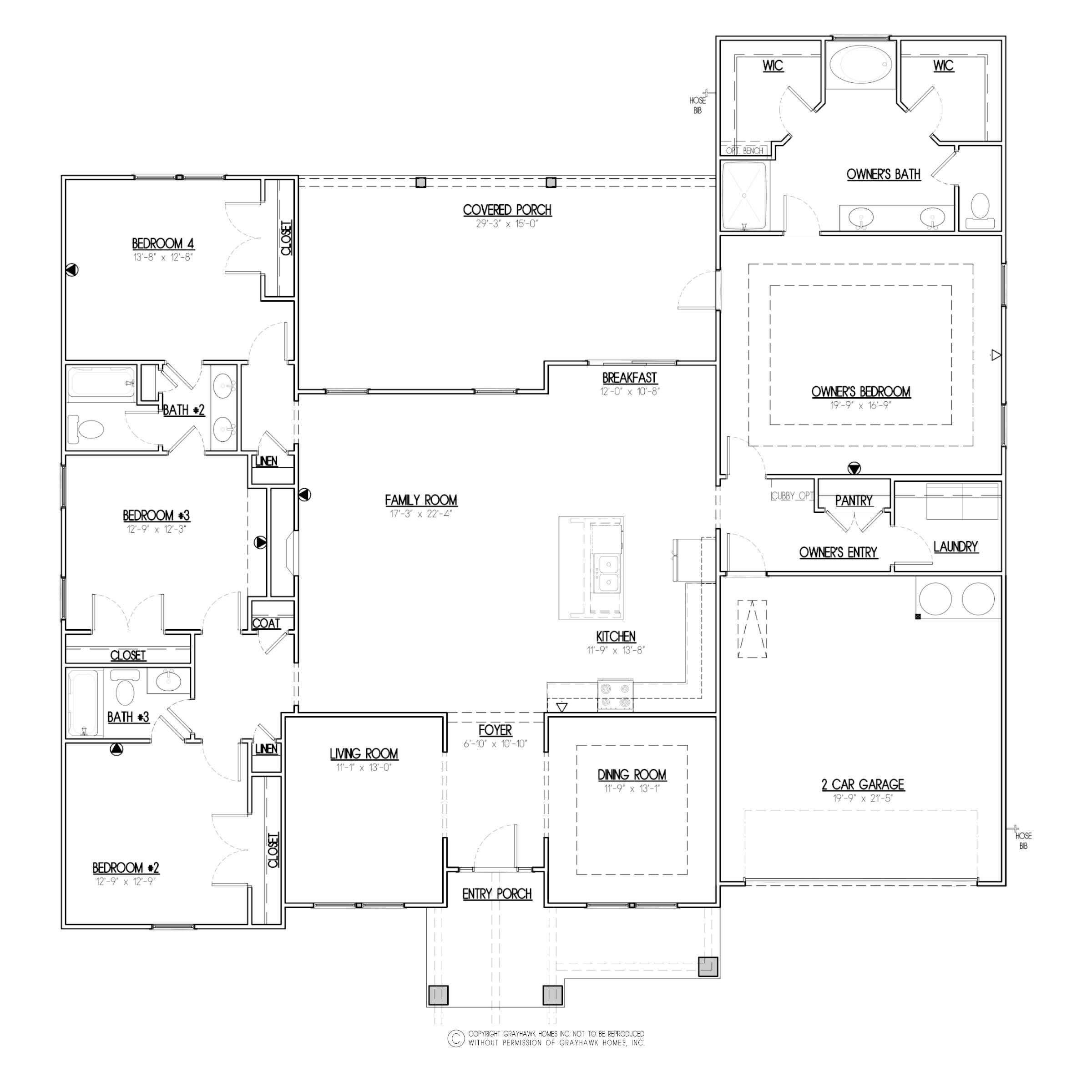 Meadow Creek Craftsman Floor Plan
