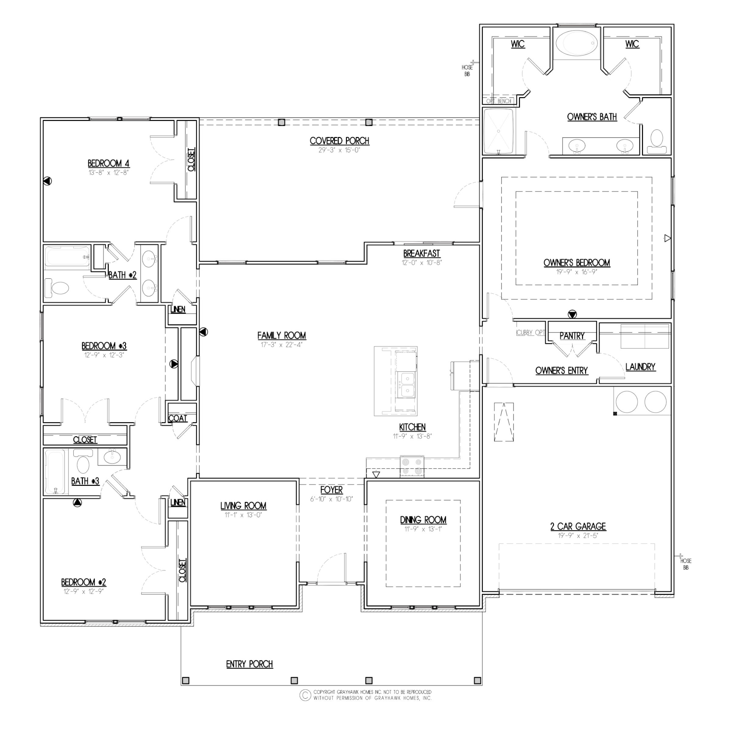 Meadow Creek Tradtional Floor Plan