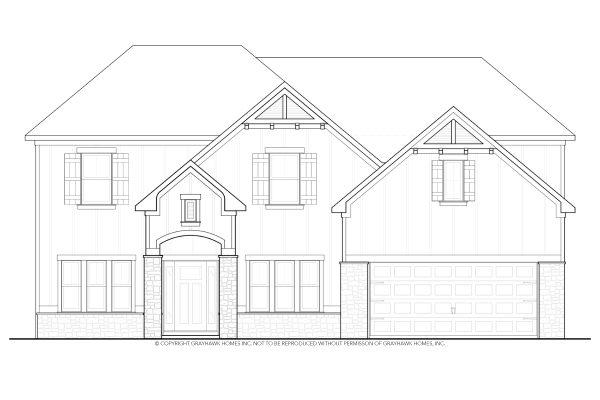 Laurel Arts & Crafts West House Plan