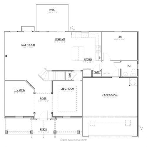 Laurel Craftsman House Plan - 1st Floor