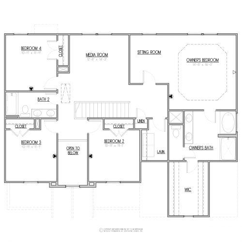 Laurel Craftsman House Plan - 2nd Floor