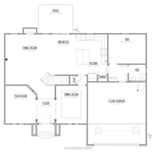 Laurel Euro House Plan - 1st Floor