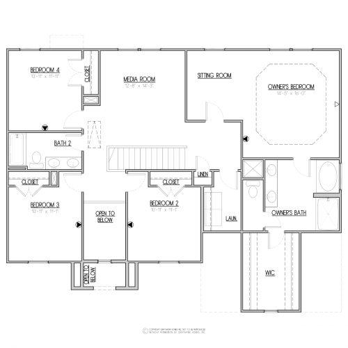 Laurel Euro House Plan - 2nd Floor
