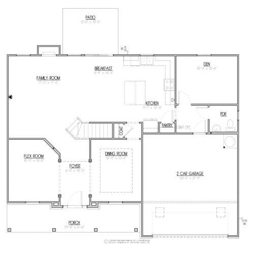 Laurel Traditional House Plan - 1st Floor