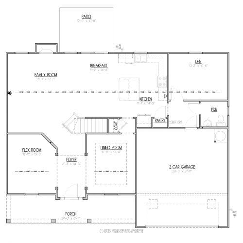 Laurel A&C West House Plan - 1st Floor