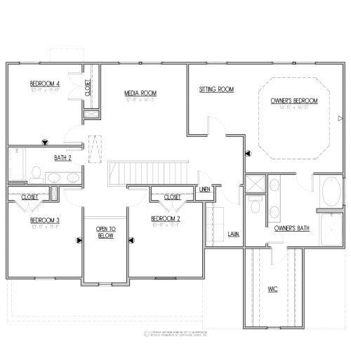 Laurel A&C West House Plan - 2nd Floor