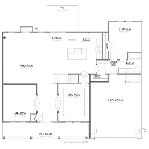 Elmwood 2 Story House Plan - 1st Floor