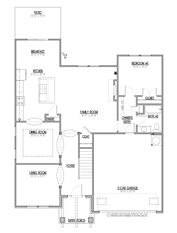 Sycamore Craftsman 1st Floor