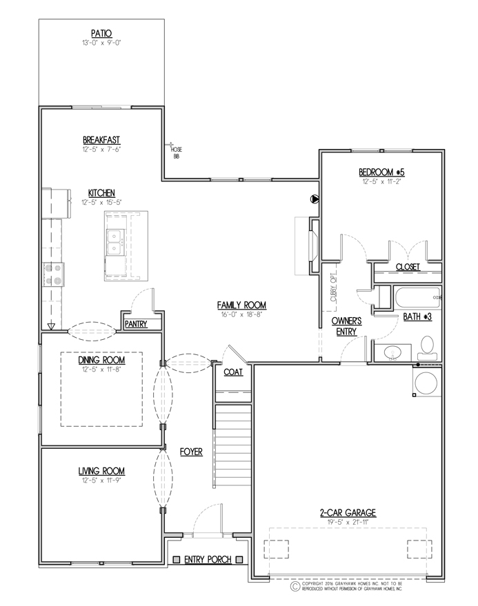 Sycamore Traditional 1st Floor