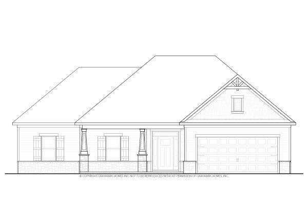 Boston II Craftsman Single Story House Plans