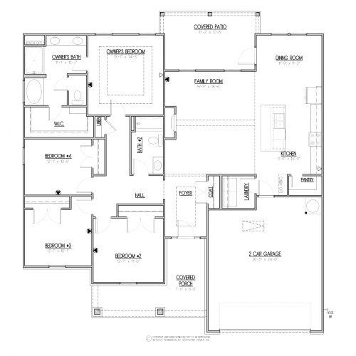 Boston II Euro Single Story House Plans - 1st Floor