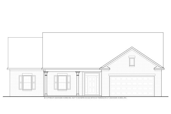 Boston II Traditional Single Story House Plans