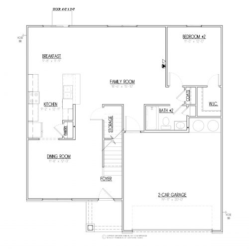 Brentwood III Craftsman House Plans - 1st Floor