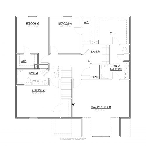 Brentwood III Craftsman House Plans - 2nd Floor