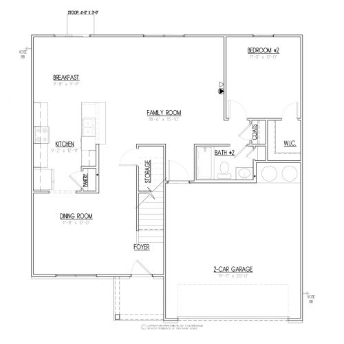 Brentwood III Traditional House Plans - 1st Floor